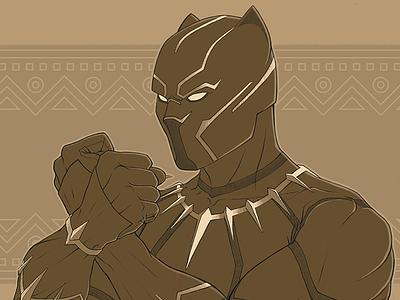 Black Panther avengers marvelcomics marvel black panther procreate ipad applepencil illustration digital painting