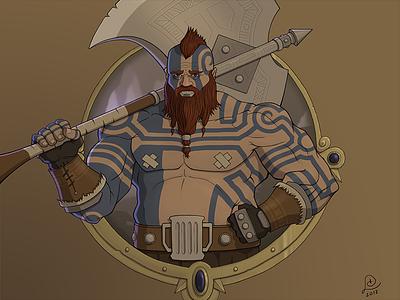 Bjorr Eageraxe | Dwarf Barbarian underdark barbarian dwarf dungeons and dragons dnd apple pencil procreate digital art digital painting drawing illustration art