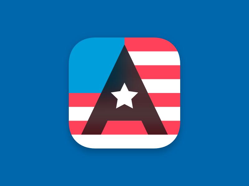 App-merica app icon daily ui america usa icon