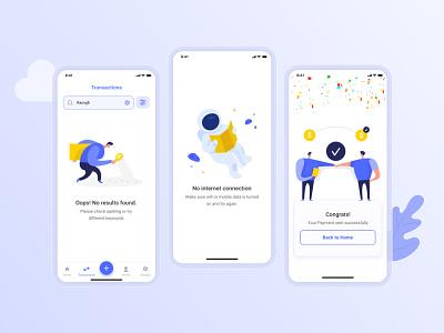 EZ Pay Empty states finance app e-wallet ui ux mobile app design mobile ui mobile app design uiux uidesign