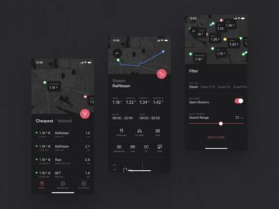 Fuel App | Dark Mode