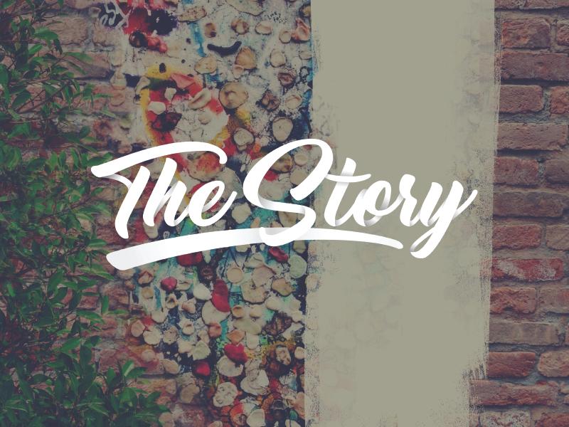 The Story Logo consumption redemption fall creation gospel branding church story logo