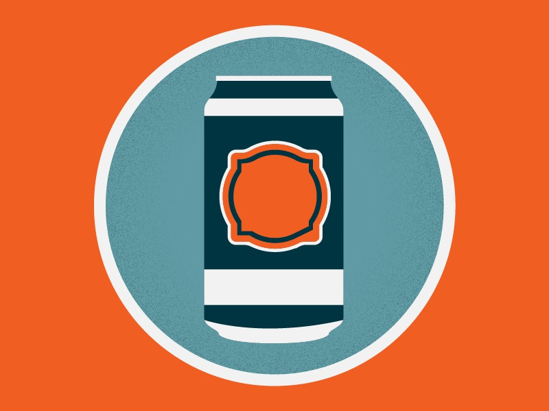 Drank up beer can icon