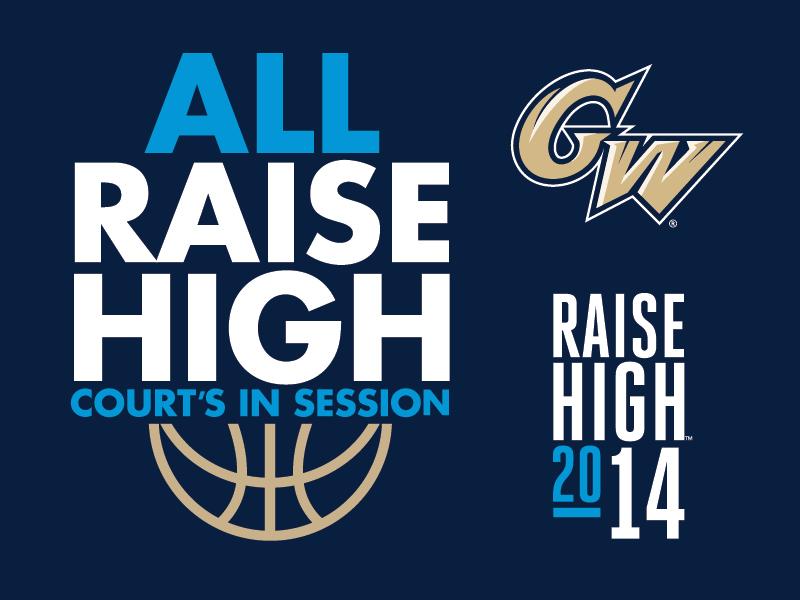 Raise High college tshirt sports gwu basketball