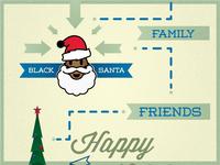 Black Santa christmas haa