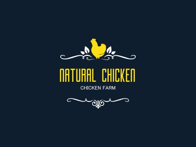 Natural Chicken illustrator design vector logo design branding illustration icon logo design graphic design branding promoyourbiz