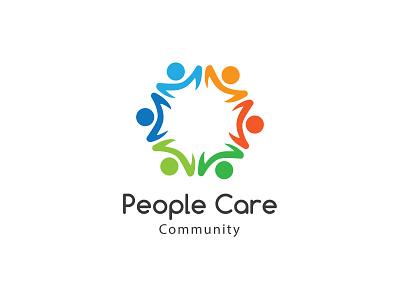 People Care illustrator design vector icon logo design branding illustration logo design graphic design branding promoyourbiz