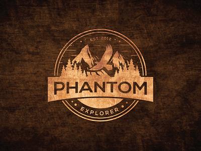 Phantom Explorer illustrator design vector logo design branding icon illustration logo design graphic design branding promoyourbiz