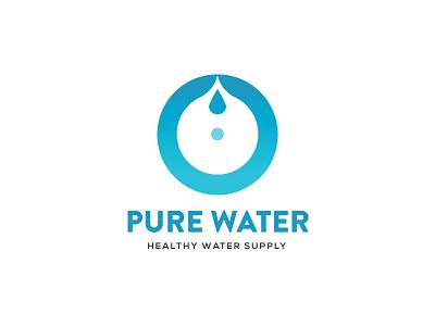 Pure Water logo vector animation icon logo design branding illustration logo design graphic design branding promoyourbiz