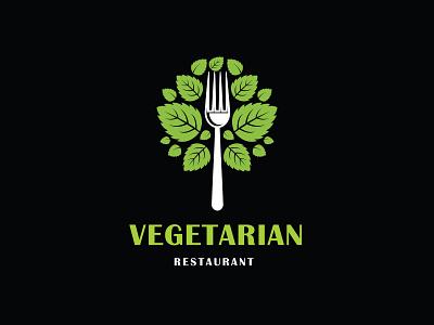 Vegetarian logo illustrator design vector logo design branding illustration logo design graphic design branding promoyourbiz