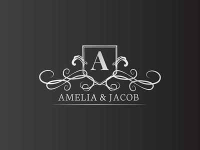 Amelia  & Jacob logo illustrator design vector logo design branding illustration logo design graphic design branding promoyourbiz