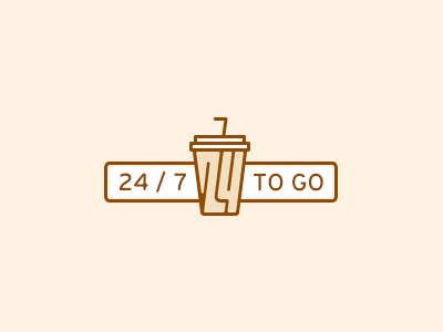 24/7 To Go 7 24 cup straw togo coffee