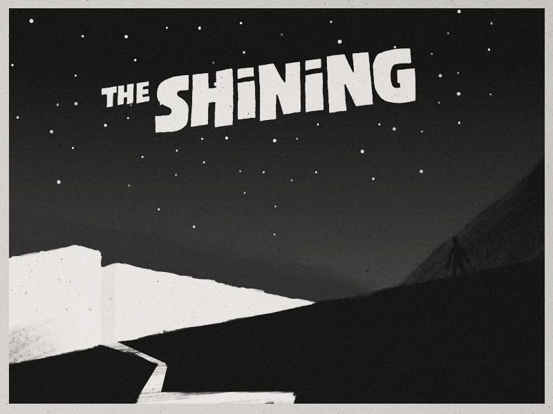 The Shining shining illustration book trailer poster art