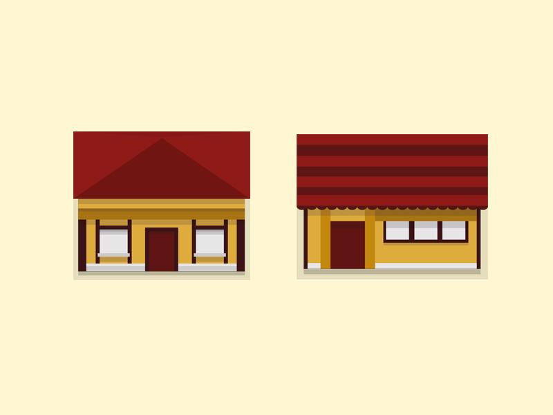 Houses illustration house flat design