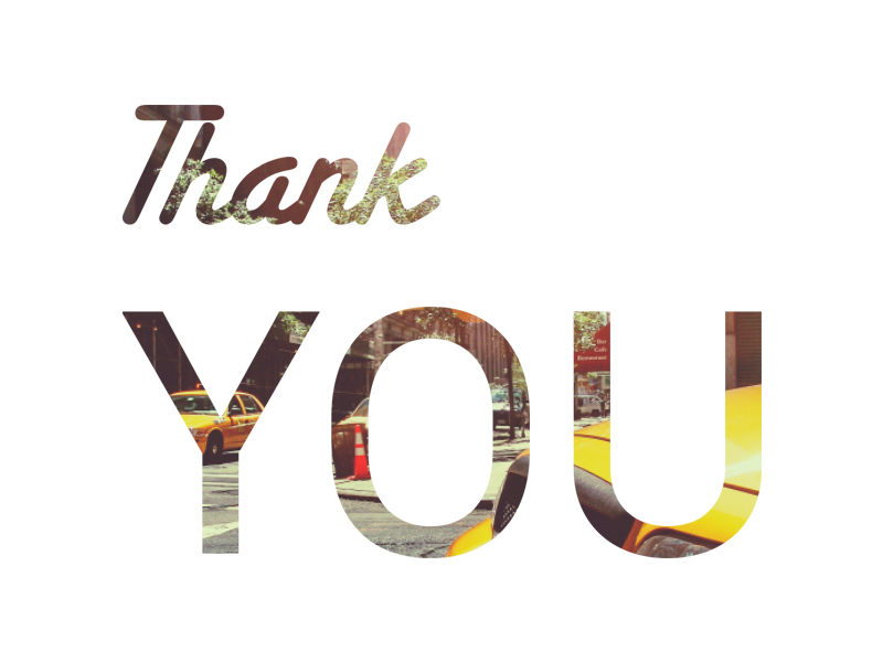 Thank You to Nicolas Quod typography you thank