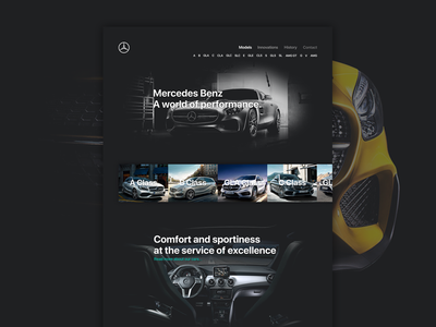 Mercedes-Benz AMG HomePage Redesign
