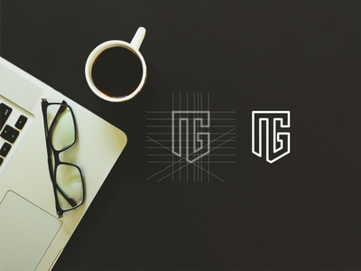 MG luxury lettering brand brand mark branding minimal logo icon design app