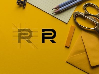 FR luxury brand mark brand lettering branding minimal logo icon design app