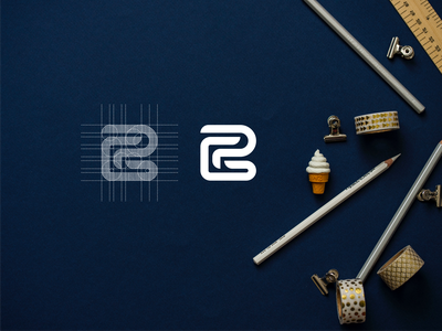 GP luxury brand mark brand lettering branding minimal logo icon design app