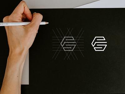 FS monogram logo apparel monogram lineart lettermark simple luxury brand mark brand branding lettering icon design logo