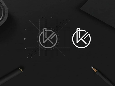 KG monogram logo monogram simple apparel luxury typography lineart lettermark brandmark app brand branding lettering icon design logo