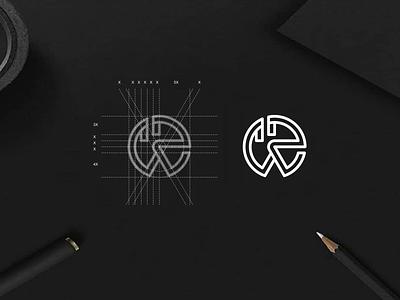 WR monogram logo apparel typography luxury minimalist simple lineart brandmark lettermark app brand branding lettering icon design logo