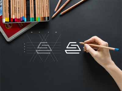 S2 monogram logo apparel luxury monogram simbol simple typography lineart lettermark brand branding lettering icon logo design