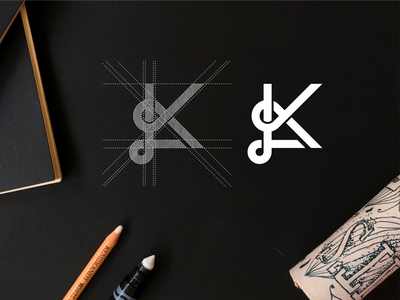 KL monogram logo minimalist simbol simple monogram typography lineart lettermark luxury brand branding lettering icon logo design