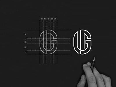 WG monogram logo monogram apparel luxury simbol simple typography lineart lettermark brand branding lettering icon design logo