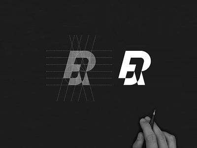 RJ monogram logo minimalist lettermark brand typography lineart lettering branding simbol simple monogram icon design logo