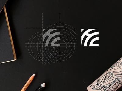 HC monogram logo abstract hc logo monogram achitecture design simbol vektor lettermark lettering