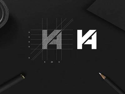 K4 monogram logo k4 concept simple symbol icon vector lettering designlogo design logo minimalist illustration branding monogram