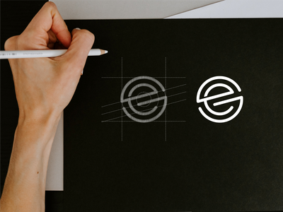 SE monogram logo se concept symbol minimalist designlogo abstract monogram icon vector illustration branding logo design lettering