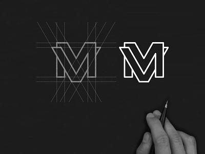 VM monogram logo vm minimalist concept designlogo illustration illustratio lineart abstract monogram icon vector branding design logo lettering