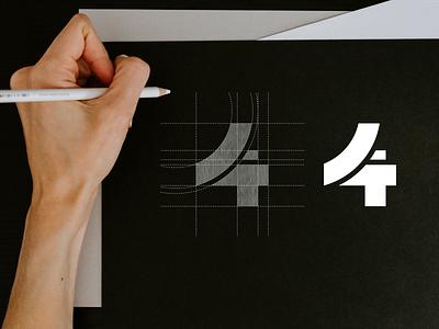 4T monogram logo 4t symbol simple icon design logo abstract monogram vector illustration branding logo design lettering