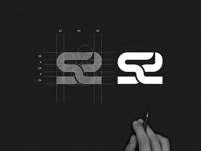 SD monogram logo sd abstract designlogo simple brand appare minimal monogram icon app branding lettering logo design
