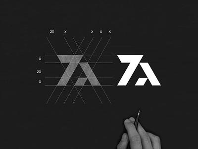 ZA monogram logo za concept simple designlogo illustration vector app branding abstract symbol icon monogram logo lettering design