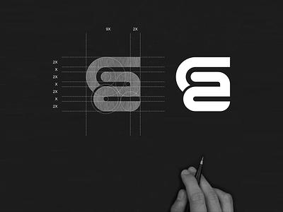 GA monogram logo ga brand symbol logo concept abstract simple monogram vector illustration app branding logo icon design lettering