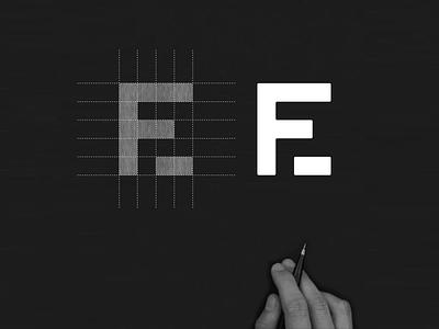 F2E monogram logo f2e negativespace symbol abstract simple monogram vector app branding brand logo design icon lettering