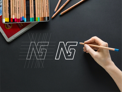 NG monogram logo ng typography lineart symbol abstract simple monogram vector illustration logo app design brand icon lettering