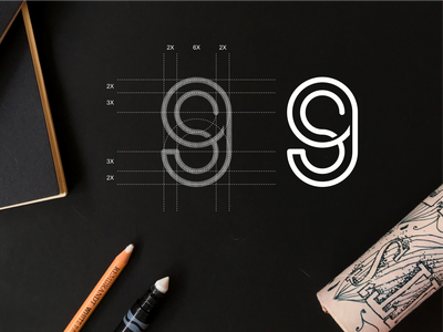 S9 monogram logo concept s9 simple typography lineart symbol monogram vector illustration branding icon design lettering logo graphic design