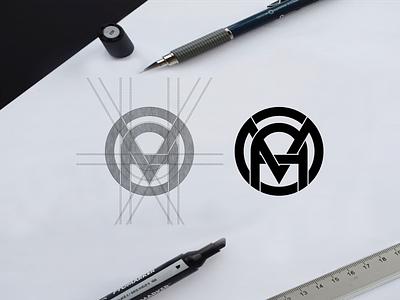 MAO monogram logo concept elegant awesome initial circle vector symbol monogram brand illustration branding icon logo design lettering graphic design