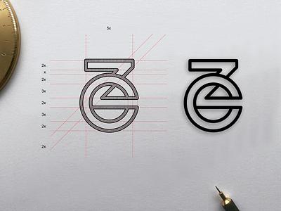 ZC monogram logo zc minimal simple illustrations line art symbol monogram illustration app branding design icon logo lettering graphic design