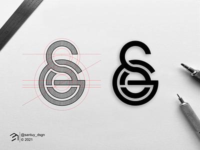 SGE monogram logo lineart brand logoroom logoawesome logomark beautifullogo logogrid logoideas logoproses logoinspire logoconcept logoinitials symbol branding monogram design icon lettering logo