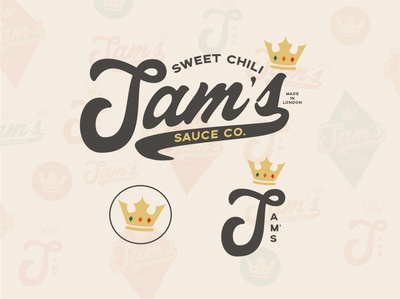 Sam's Sweet Chili Exploration typography logo icon branding design