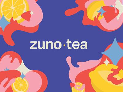 zuno tea logo and illustrations identitydesign brand identity vector illustration graphic design vector typography logo icon brand design branding