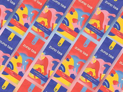 zuno tea packaging packaging illustration vector branding concept identity design identity graphic design design typography logo icon branding
