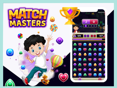 Match Master puzzle ui ux illustration hotel app mobile ui mobile app development mobile app dribbble design mobile app design