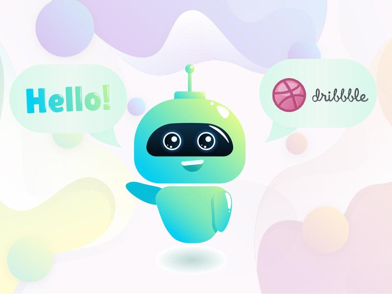 Hello Dribbble ui animation illustration design thankyou dribbble welcome shot