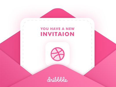 Dribbble Invitation envelope ui dribbble vector design illustration invitation